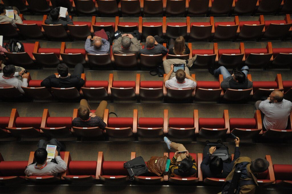 People sitting in a lecture hall